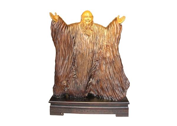 金丝楠木工艺品-老子问天