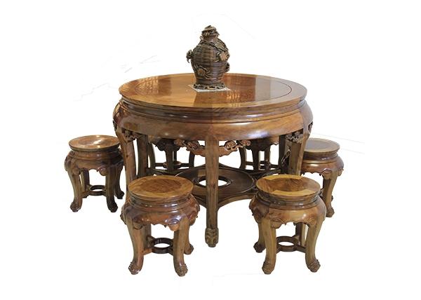 金丝楠木家具-金丝楠大圆桌