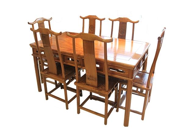 金丝楠木家具-六人桌