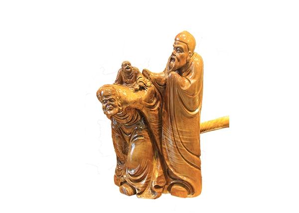 金丝楠木工艺品-小叶三仙