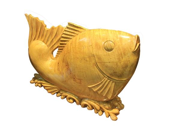 金丝楠木工艺品-鲤鱼跳龙门