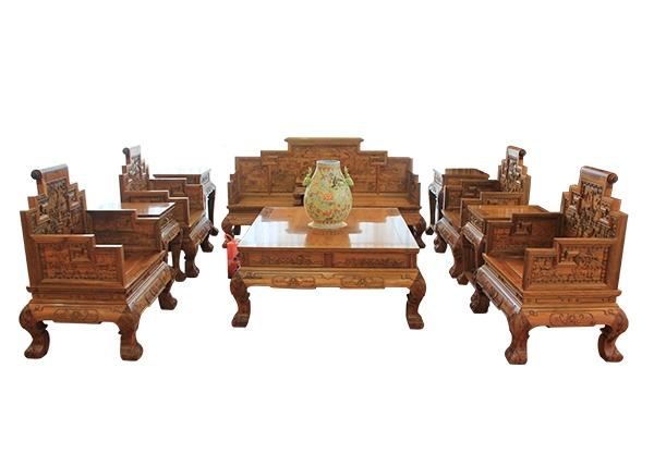金丝楠木家具-金丝楠客厅十一件套