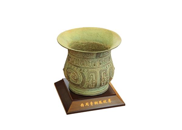 金丝楠木艺术品-西周青铜凰纹尊