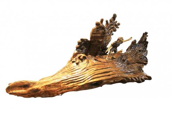 金丝楠木工艺品-冲浪