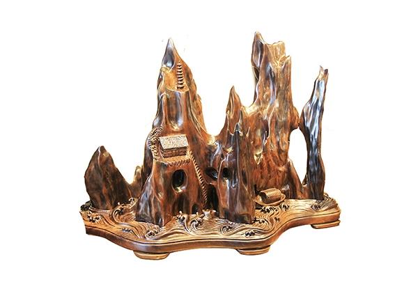 金丝楠木工艺品-山水人家