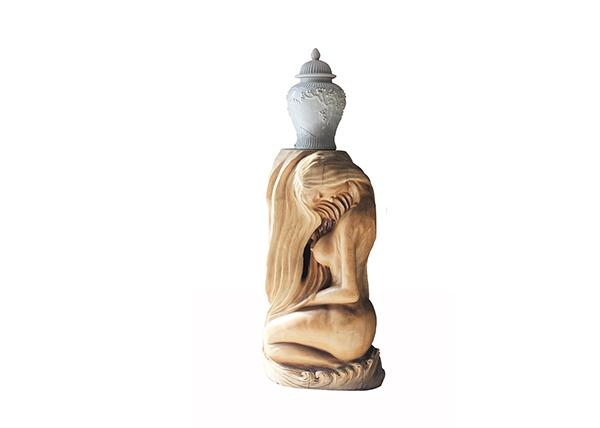 金丝楠木工艺品-侍女