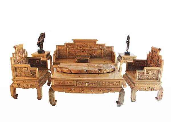 金丝楠木家具-金丝楠沙发六件套