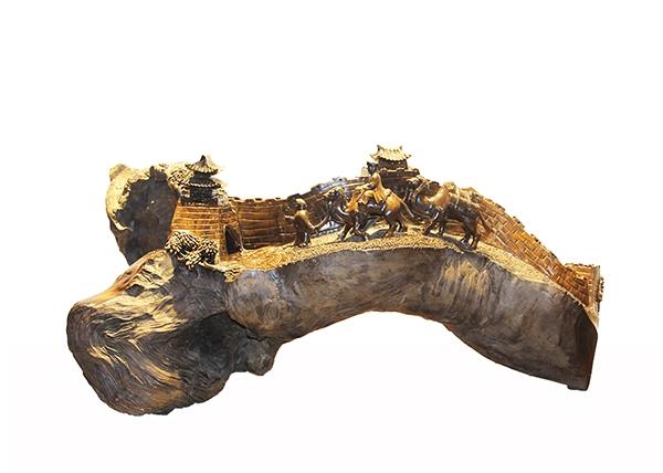 金丝楠木工艺品-丝绸之路