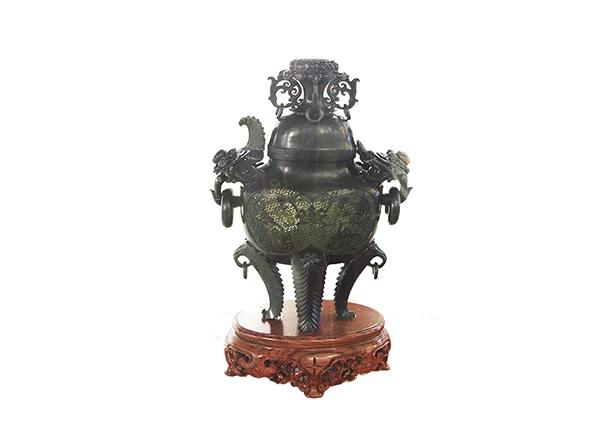 金丝楠木工艺品-香炉