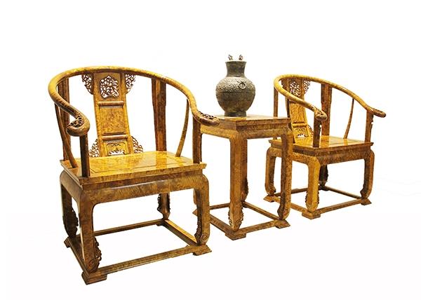 金丝楠木家具-双人椅