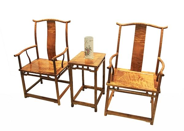 金丝楠木家具-官帽椅三件套
