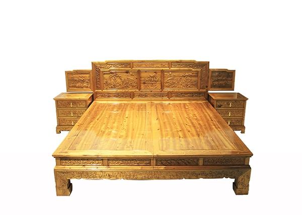金丝楠木家具-金丝楠木床