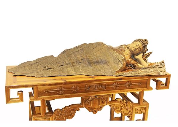 金丝楠木工艺品-千年卧佛