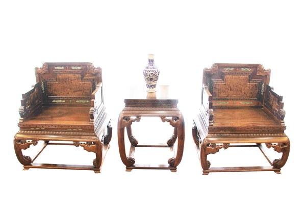 金丝楠木家具-宫廷龙椅